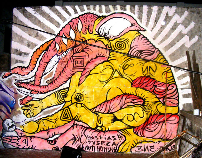 Street Art Par Ene Ene - Mariano J. Haedo (Argentine)