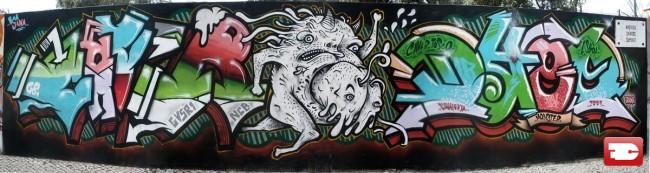 Fresques Par Mr.dheo, Caver, Tosco - Lisbonne (Portugal)
