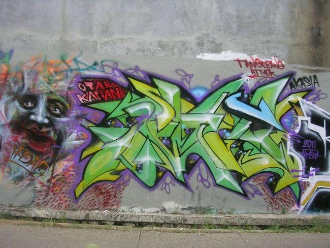 Street Art Par Akasia - Tangerang (Indonesie)