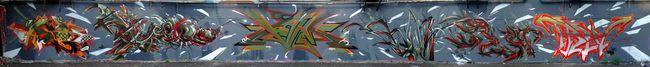 Fresques Par Spazm, Kalm, Amin, Trevor, Ablok - Palaiseau (France)