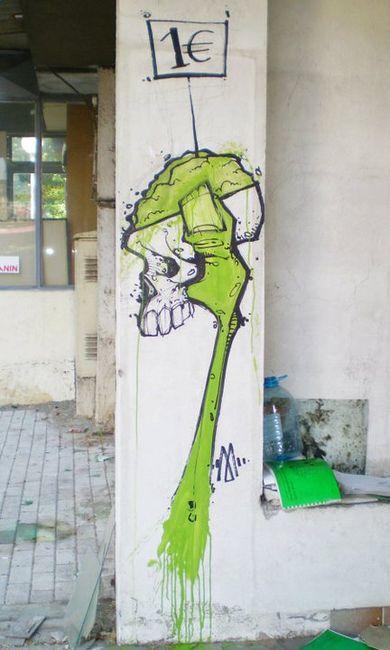 Street Art Par Machka - Skopje (Macedoine)