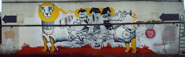Street Art Par Vitae Viazi - Moscou (Russie)