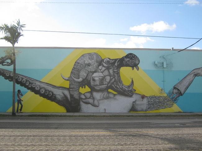 Street Art Par Juan Fernandez - Miami (FL)
