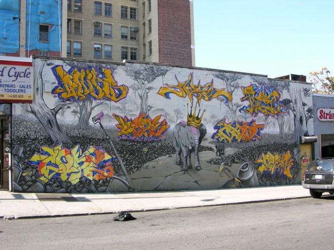 Fresques Par Cope2, Shadow, Deem, Rezo, Panks, Logek, Mad - New York City (NY)