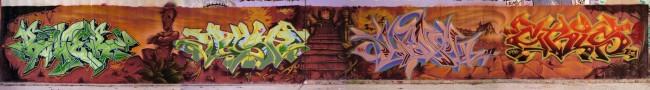 Fresques Par Boher, Shadow, Pest, Cris - Paris (France)