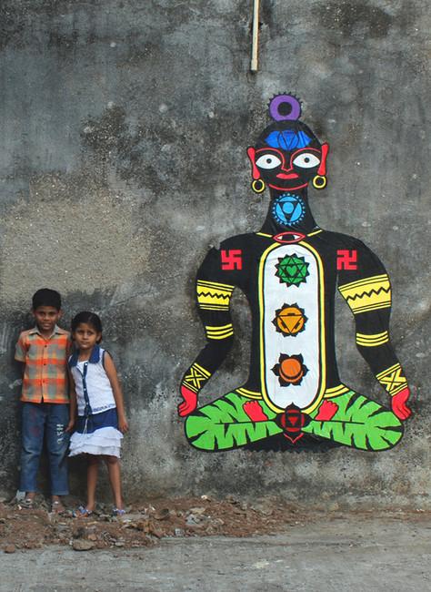 Street Art Par Rock - Grand Mumbai (Inde)