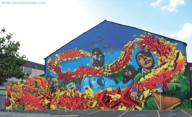 Big Walls By Shadow, Seyb, 2rode, Yoda, Breze, Dezer, Impakt - Bagneux (France)