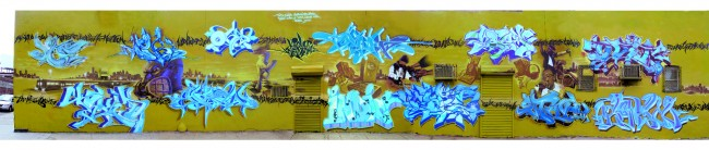 Fresques Par Cope2, Indie 184, Shadow, T-kid, Oh, Deem, Gustav, Webs, Ovie - New York City (NY)