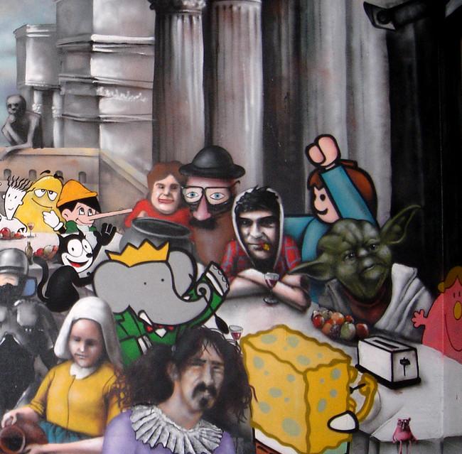 Fresques Par Ador, Rigol, Saw, Furoncle - Angers (France)