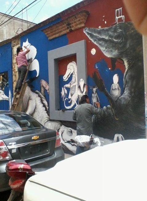 Fresques Par Malo Farfan - Oaxaca De Juarez (Mexique)