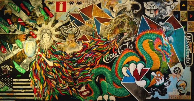 Street Art Par Mthsn - Koping (Suede)