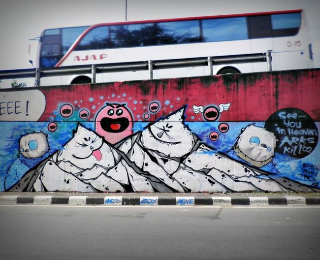 Fresques Par Movetwo, Nc (thepickwick), Mustboys - Jakarta (Indonesie)
