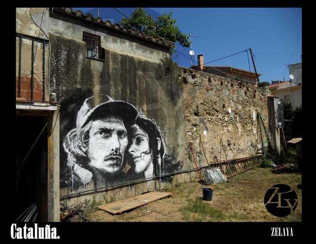 Street Art Par Zly - Vilassar De Mar (Espagne)
