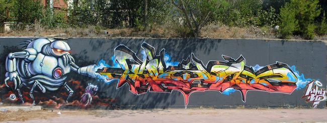 Fresques Par Wild Drawings Wd, Komet - Athenes (Grece)