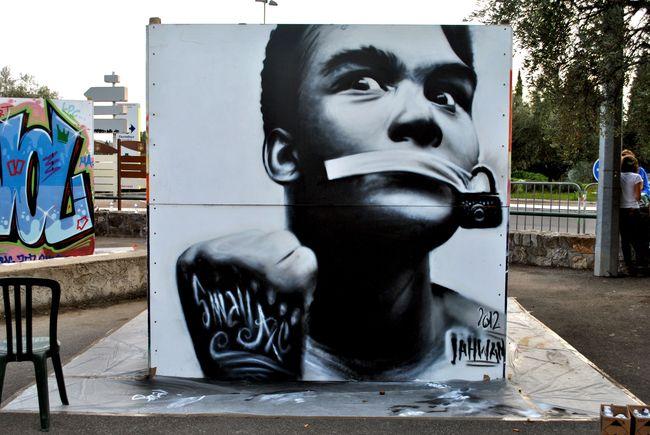 Street Art Par Jahwan - Opio (France)