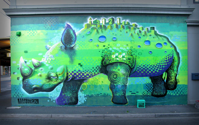 Fresques Par Makatron - Melbourne (Australie)