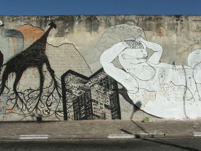 Fresques Par M-city, Sam3, Blu - Sao Paulo (Bresil)