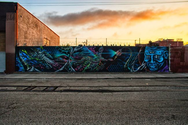 Street Art Par Eon75, Ernest Doty, Griffin One - Oakland (CA)