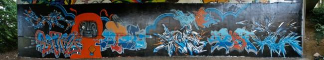 Fresques Par Dane, Sozen, Sair, Ekzode, 1fekt, Spektr, Opela, Soat - Poitiers (France)