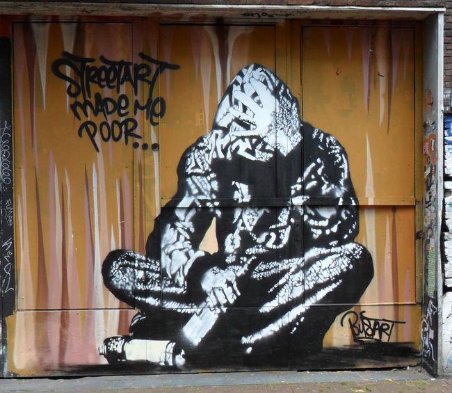 Street Art Par Bustart - Amsterdam (Pays-Bas)