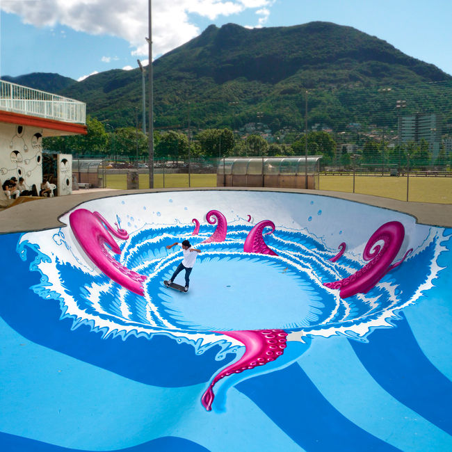 Street Art Par Nevercrew - Lugano (Suisse)