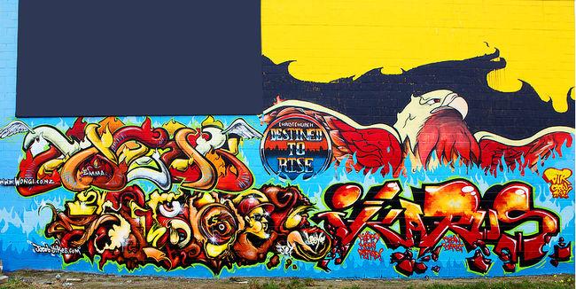 Fresques Par Freak. - Christchurch (Nouvelle-Zelande)