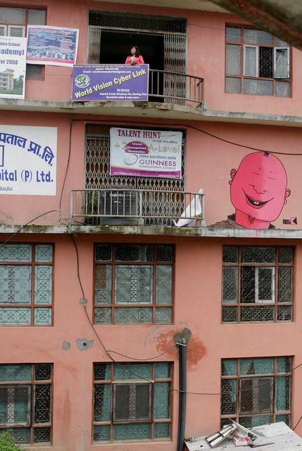 Street Art Par Mr. K - Katmandou (Nepal)