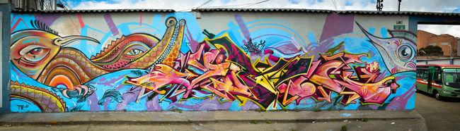 Fresques Par Yurika - Bogota (Colombie)