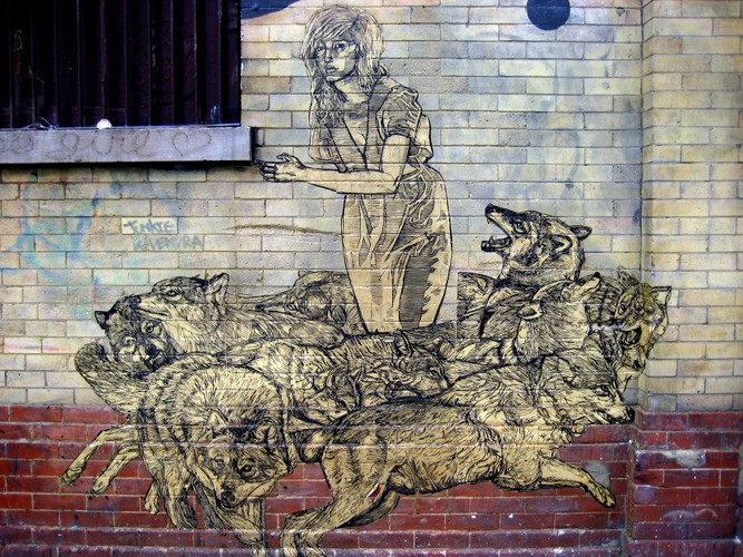 characters by swoon new york city ny street art and graffiti fatcap. Black Bedroom Furniture Sets. Home Design Ideas