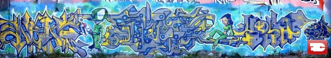 Fresques Par Saloper, Alek, Arey - Saint-Etienne (France)