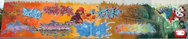Fresques Par Boher, Efas, Soho, Spyre - Lille (France)