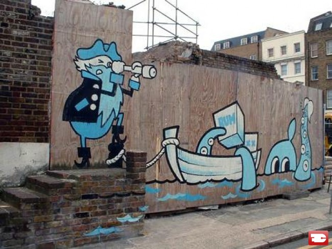 Personnages Par Dave The Chimp - Londres (Royaume Uni)