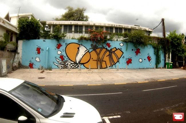 Street Art Par Jace - Saint-Pierre (Reunion)