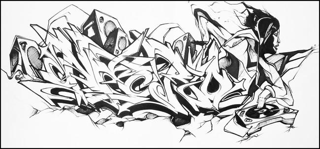 Sketch Par Asher - Nantes (France)