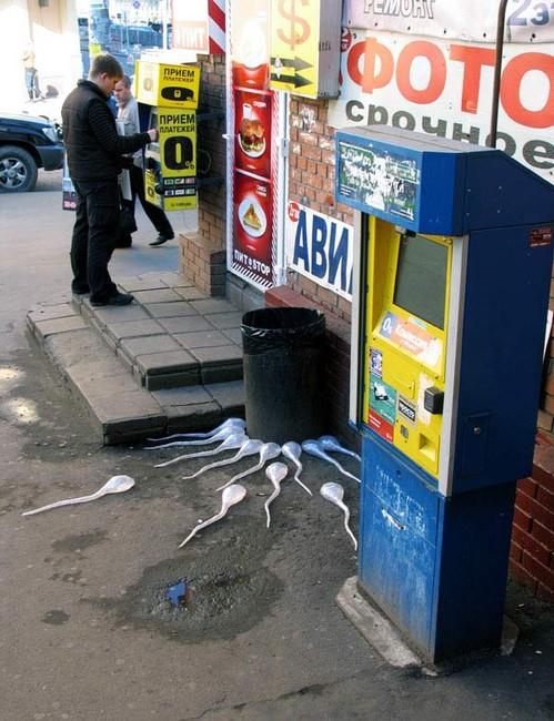 Street Art Par Mark Jenkins - Moscou (Russie)