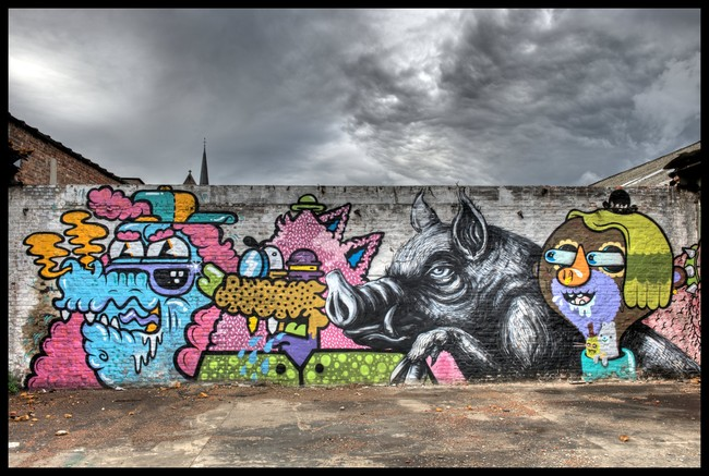 Characters By Roa, Resto, Bue - Ghent (Belgium)