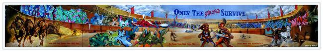 Fresques Par Sen2, Nosm, Orus, Bio, Nicer, How, Bg183, Kongo, Crash, Banga - New York City (NY)