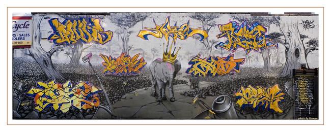 Fresques Par Cope2, Shadow, Deem, Panks, Logek, Mad - New York City (NY)