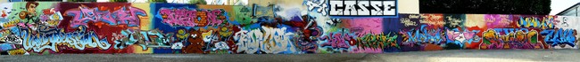 Fresques Par Echo, Bando, Mode2, Jayone, 2rode, Vision, Kay One, Nel, Kea, Banga, Shuck2, Junky - St.-Denis (France)