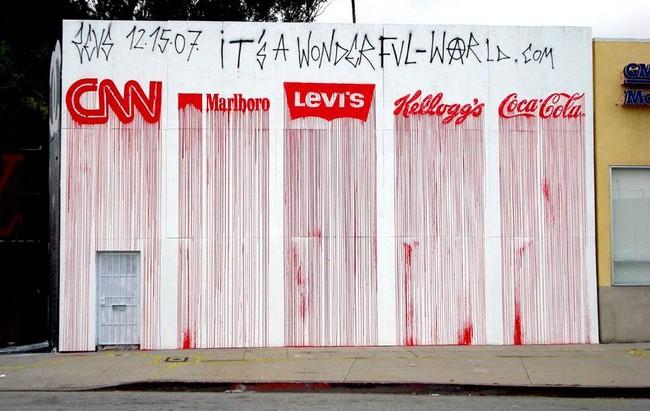 Street Art Par Zevs - Los Angeles (CA)