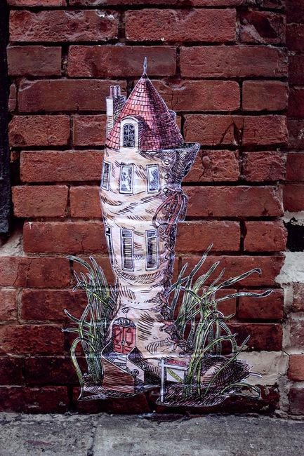 Street Art By Elbow Toe - New York City (NY)