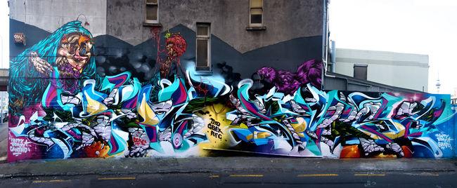 Fresques Par Deus, Askew, Berst - Auckland (Nouvelle-Zelande)