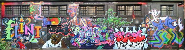 Fresques Par Busk, Tracy 168, Flint, Blade, Pulse1, Etch - Londres (Royaume Uni)