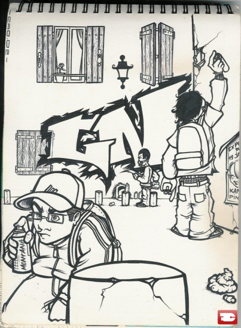 Sketch By Maskmaw - Nismes (France)
