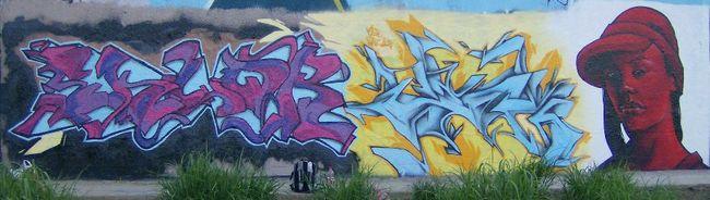 Fresques Par Stack, Onesixfrer, Eklor - Ivry-sur-Seine (France)