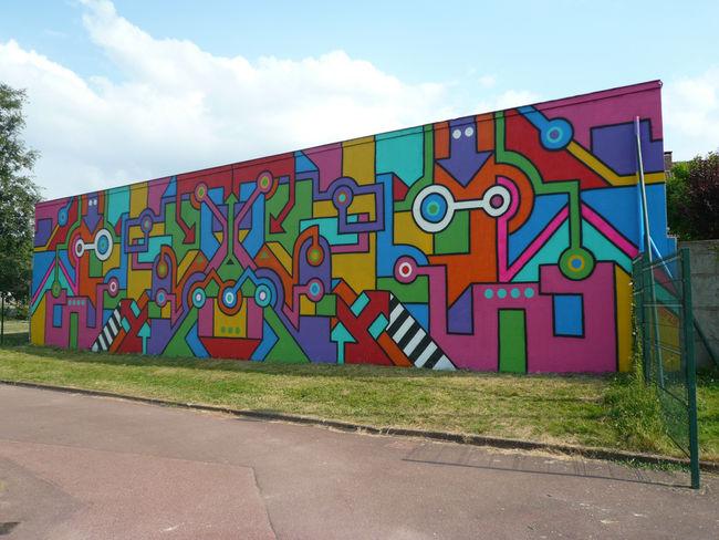 Street Art Par Seize Happywallmaker - Clam (France)