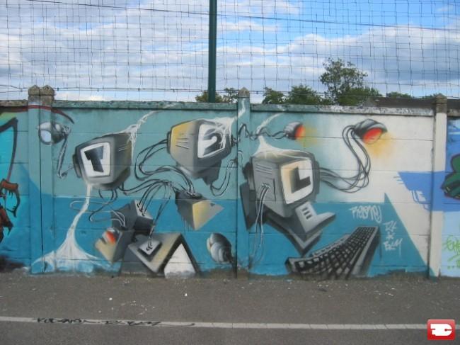 Street Art Par Redone - Ponthierry (France)
