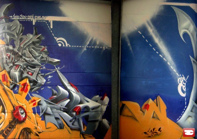 Fresques Par Sar, Zion, Eias, Okte, Fino - Leers (France)