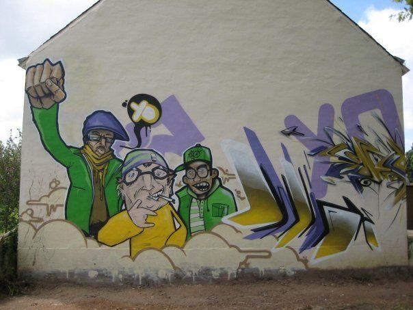 Big Walls By Dong, Lao, Lez, Lez, Wide, Samp - Fegreac (France)