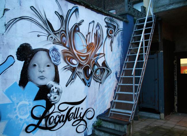 Fresques Par Ofser, Steve Locatelli - Alost (Belgique)